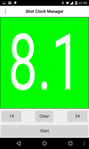 Shot Clock Timer - Running