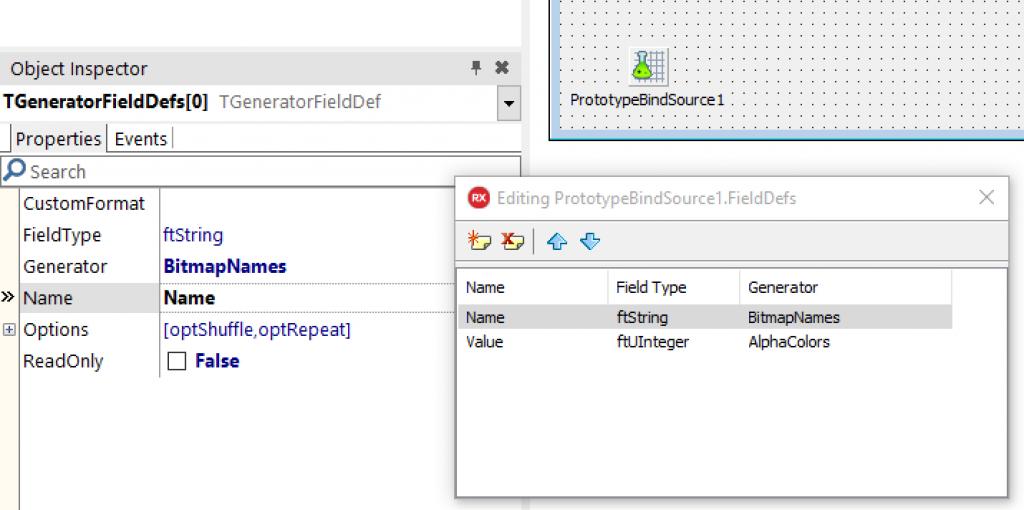 Fields in a ProtoType BindSource