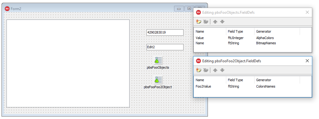 Visual Live Bindings Master Detail TFoo TFoo2