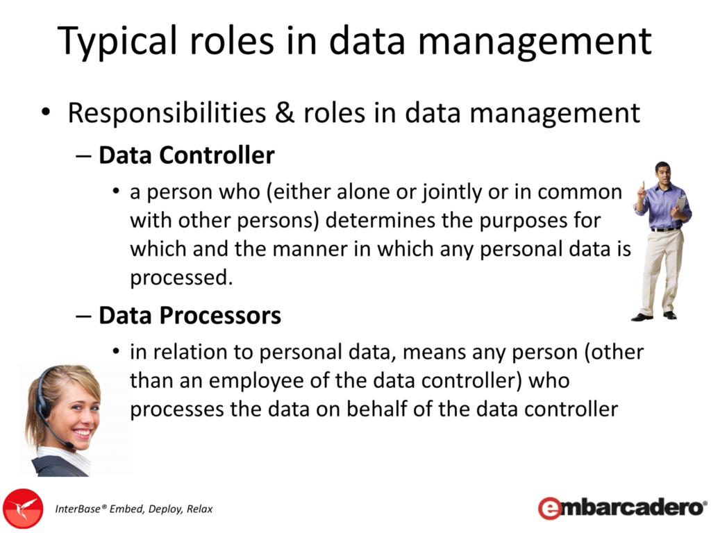 Data Controller and Data Processor