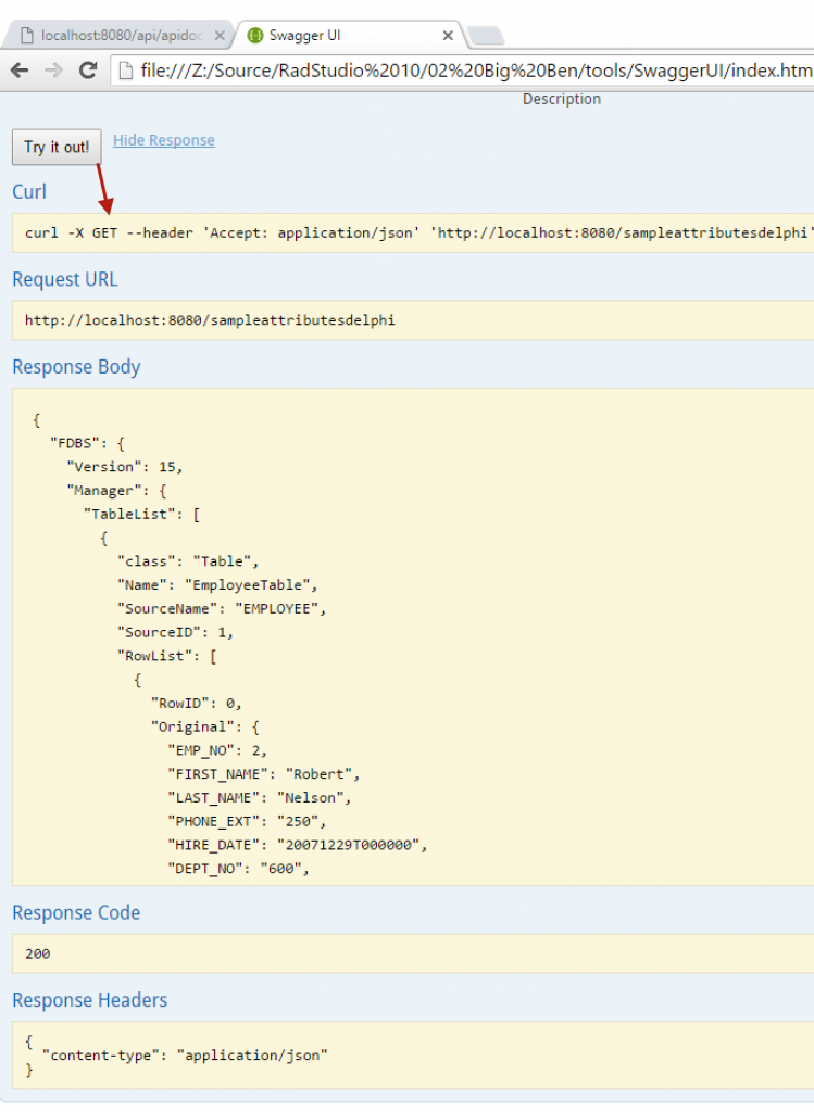 Trying out Swagger UI